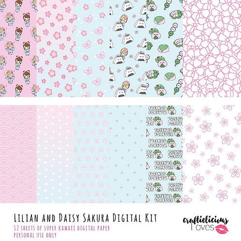 Sakura Daisy - Digital Papers