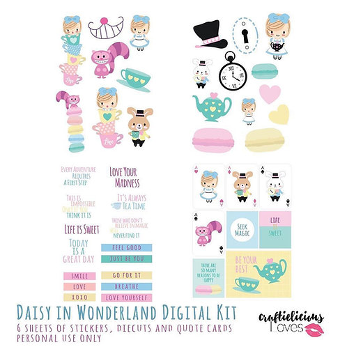 Daisy in Wonderland - Die Cuts and Cards