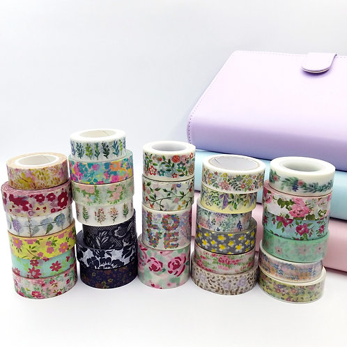 Washi grab bag (floral)