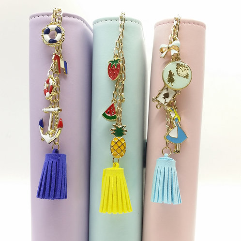 Themed planner charm with cute tassel