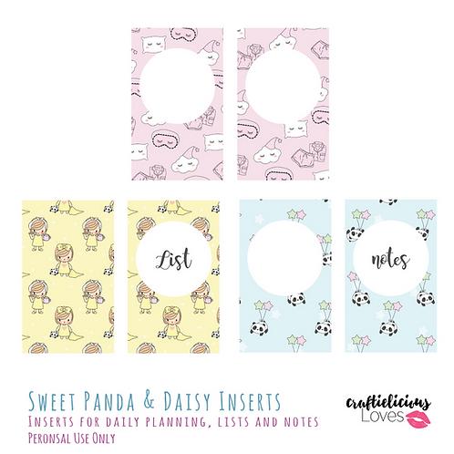 Sweet Dream Panda and Daisy - Inserts