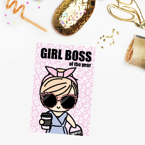 Boss babe postcard