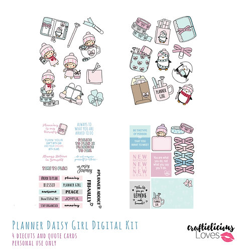Planner Girl Daisy - Die Cuts and Cards