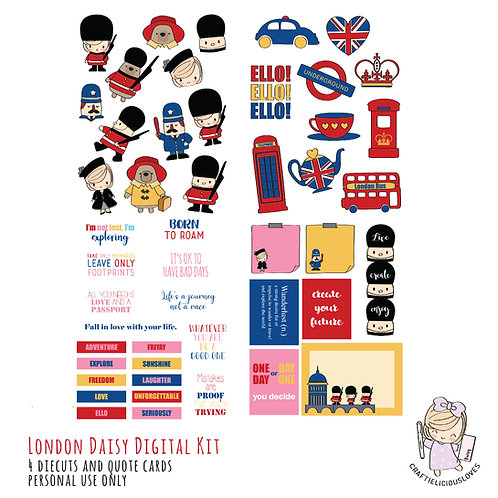 London Daisy - Die Cuts and Cards