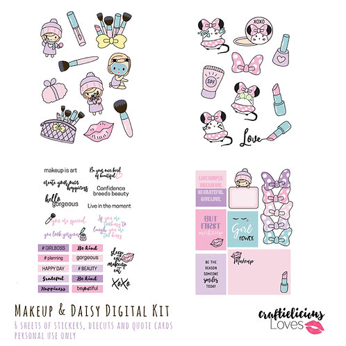 Makeup and Daisy - Die Cuts and Cards