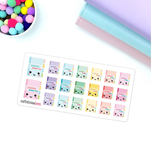 Planner love kawaii stickers