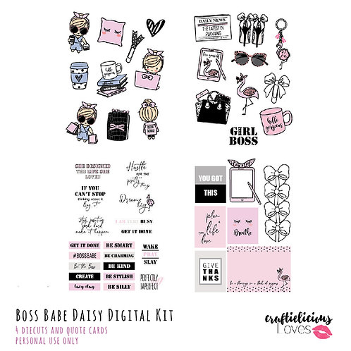 Boss Babe Daisy - Die Cuts and Cards