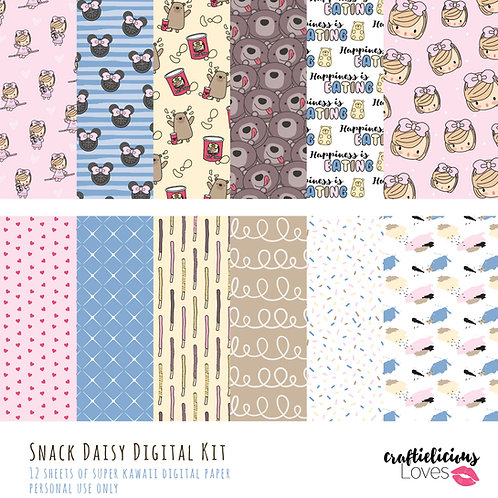 Snack Daisy - Digital Papers