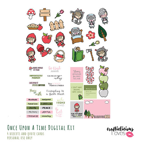 Once Upon a Time Daisy - Die Cuts and Cards