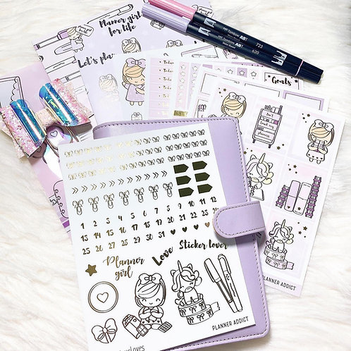 Planner Addict Daisy Sticker Kit