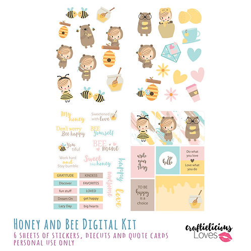 Honey and Bee - Die Cuts and Cards