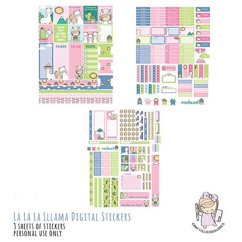 La la la llama - Stickers (with Hobonichi Size)