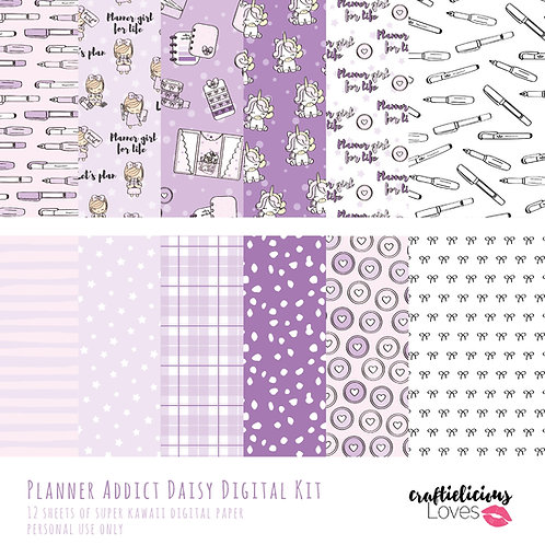 Planner Addict Daisy - Digital Papers