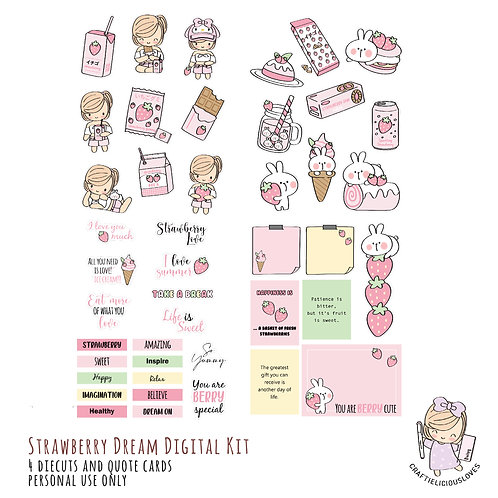 Strawberry Dream - Die Cuts and Cards