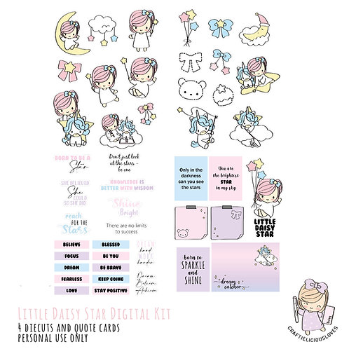 Little Daisy Star - Die Cuts and Cards