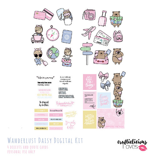 Wanderlust Daisy - Die Cuts and Cards