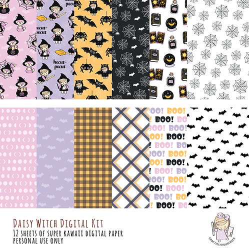 Daisy Witch - Digital Papers