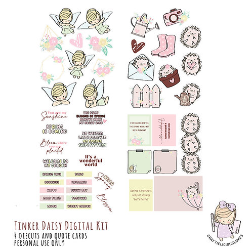 Tinker Daisy - Die Cuts and Cards