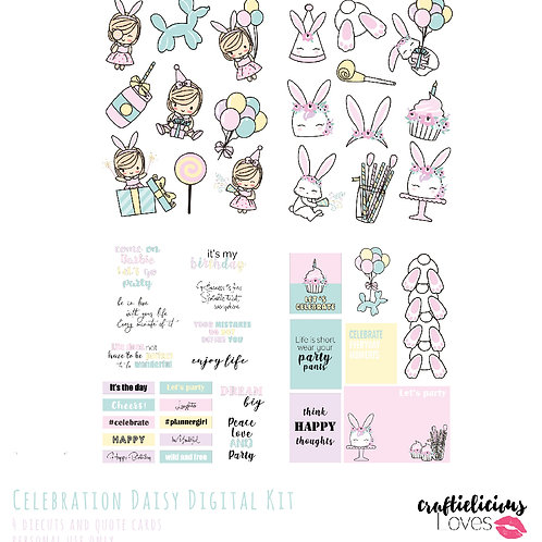 Celebration Daisy - Die Cuts and Cards