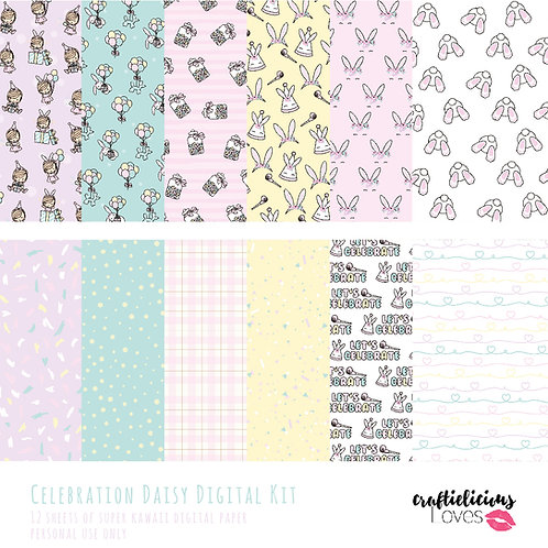 Celebration Daisy - Digital Papers