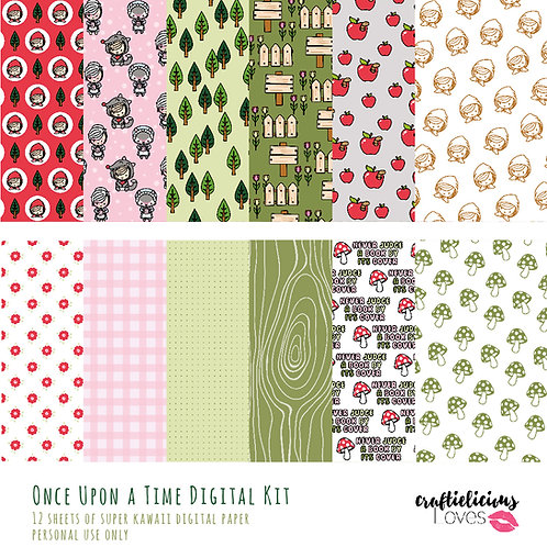 Once Upon a Time Daisy - Digital Papers