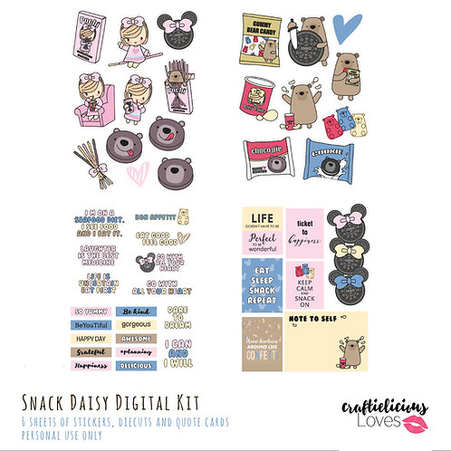 Snack Daisy - Die Cuts and Cards