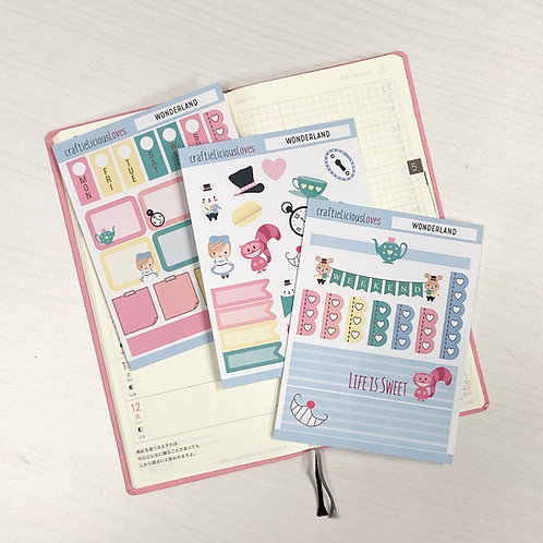 Wonderland hobonichi kit