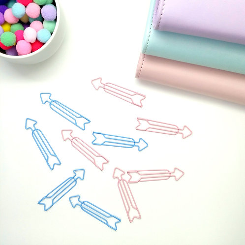 Kawaii arrow planner clips - Set of 4