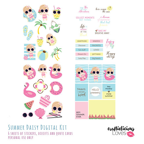 Summer Daisy - Die Cuts and Cards