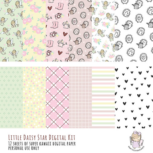 Tinker Daisy - Digital Papers