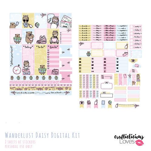Wanderlust Daisy - Stickers