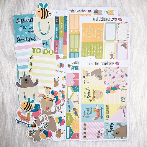 Happy Honey Bear sticker kit