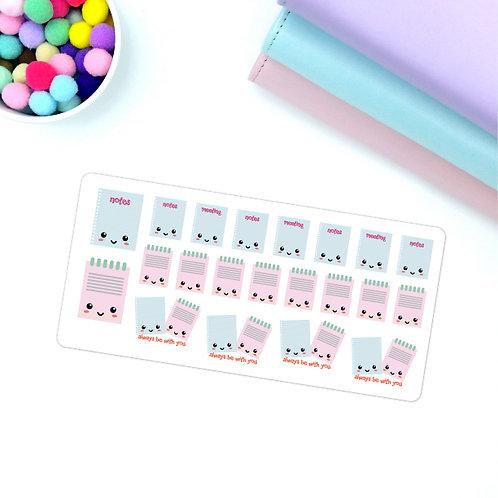 Cutie notes kawaii stickers