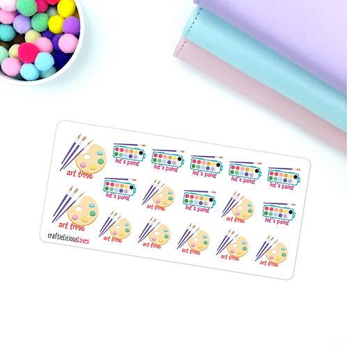 Arty farty kawaii stickers