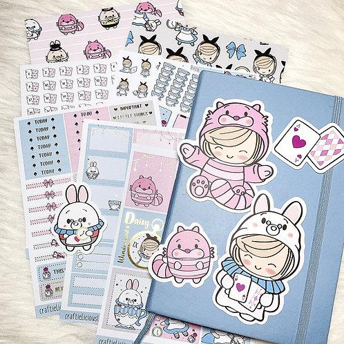 Alice in Wonderland Sticker Kit