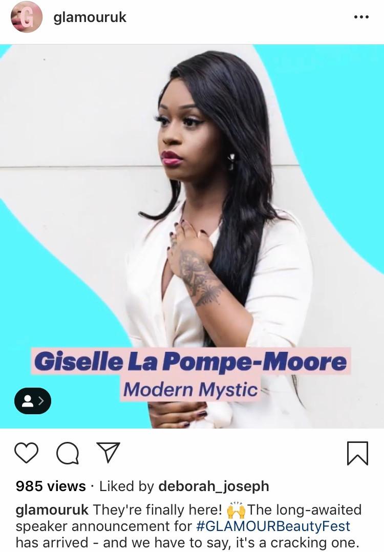 Glamour Beauty Festival Giselle La Pompe-Moore