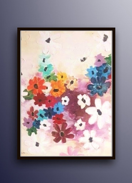 Flowers painting acrylic flowers art acrylic painting white flowers rainbow white flowers painting etsy ron deri mightylinksfo