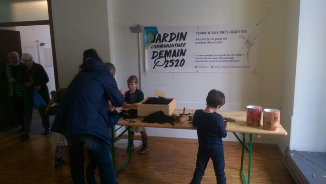 Stand pour enfants au Festival du film vert
