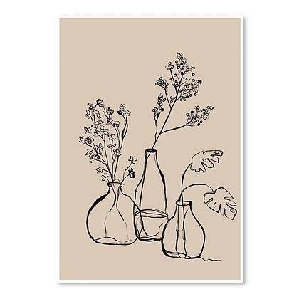linear vases