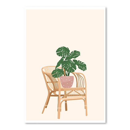 monstera chair