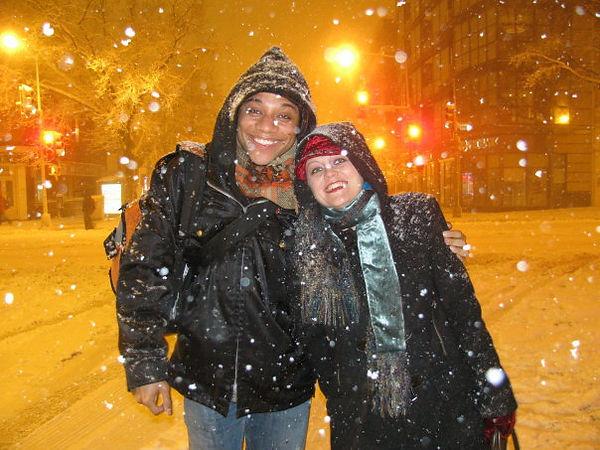 Jennifer and Ricardo outside the Studio