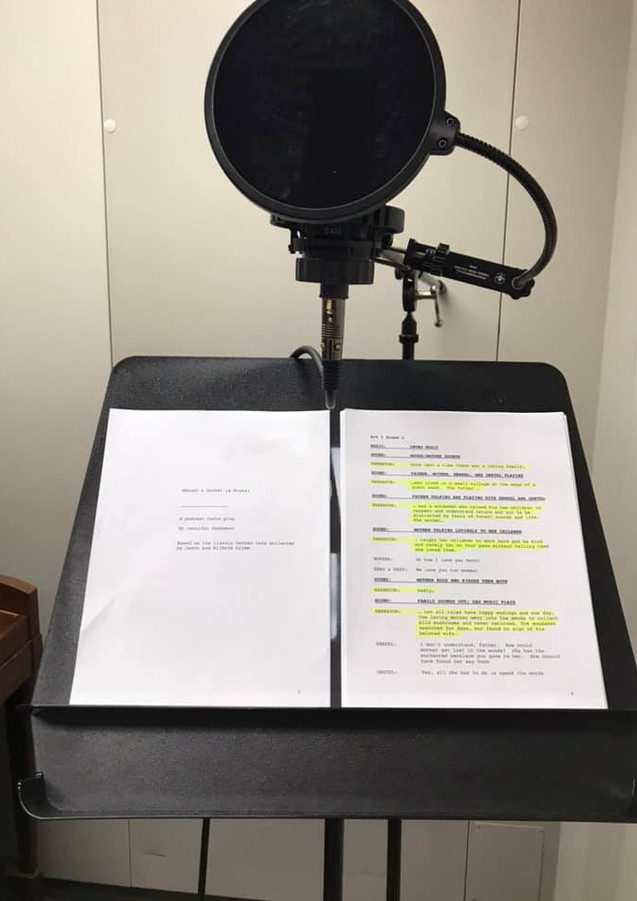 Narrator script in the booth