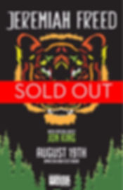 Jeremiah Freed Show Poster - Sold Out