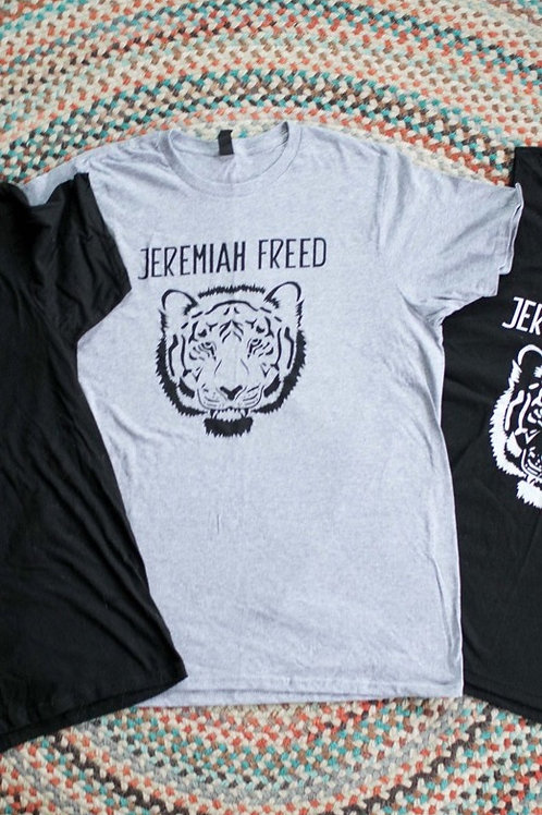 "Gray XL Jeremiah Freed ""Tiger"" T-Shirt"