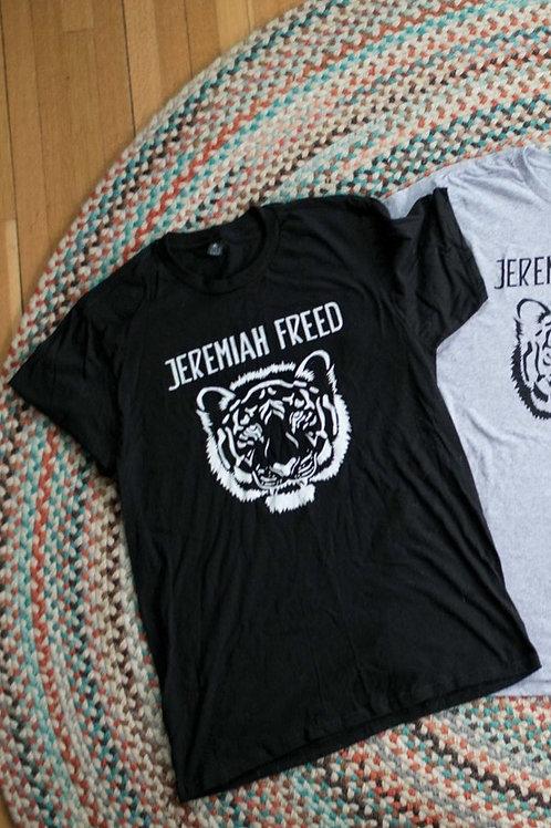 """Black Large Jeremiah Freed """"Tiger"""" T-shirt"""