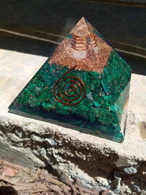 Malachite Orgone Pyramid