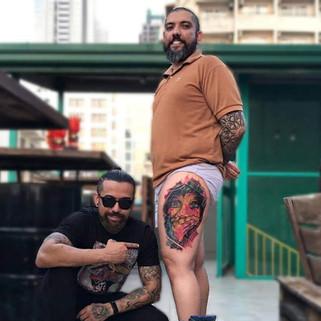 Color Portrait tattoo   Ripz Tattoo Guwahati