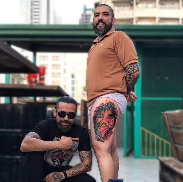 Color Portrait tattoo | Ripz Tattoo Guwahati