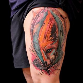Coloured-Wolf-tattoo-Ripz-Tattoo