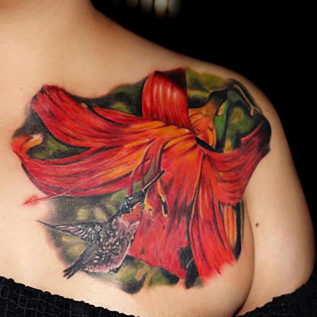 Colorful Flower Tattoo | Ripz Tattoo